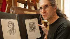 RA Friedman and his drawings are keeping lost loved ones alive. (Photo courtesy of RA Friedman.)