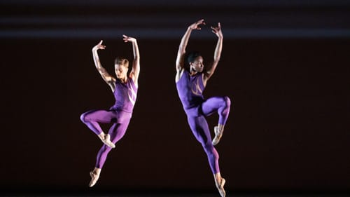 Albert Gordon and Jermel Johnson in 'Trigger Touch Fade,' an engaging premiere. (Photo by Alexander Iziliaev.)