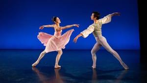 Bright, lyrical movement: Mayara Piniero and Zecheng Liang in Balanchine's 'Allegro Brilliante.' (photo by Alexander Iziliaev.)
