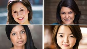 The residents, clockwise from top: Stephanie N. Walters, Rupal Pujara, Pratima Agrawal, and Claris Park. Agrawal didn't appear here but will present her work at the 2018 Philadelphia Fringe Festival. (Photo courtesy of PAPA.)