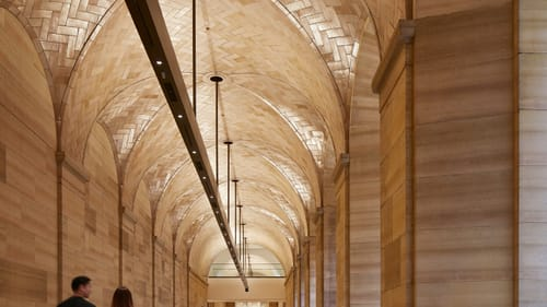 A place where you can move freely: the North Vaulted Walkway, facing north. (Photo by Steve Hall, © Hall + Merrick Photographers.)