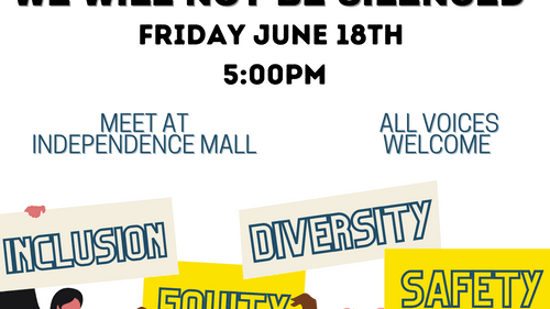 The Philly arts community will rally at Independence Mall on Friday, June 18. (Image courtesy of Jenna Pinchbeck.)