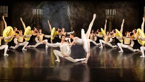 The dancers of the Pennsylvania Ballet onstage at the Performance Garage in spring 2021. (Photo by Alexander Iziliaev.)