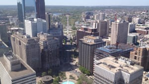 Facing Fairmount from the top of City Hall — my favorite view. (Photo by Lane Blackmer.)