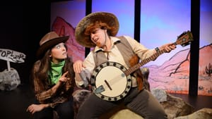 Pinchbeck (left), Perry: If Shakespeare were a cowboy.... (Photo: Joihn Donges.)