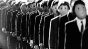 Regimented schooling, as seen in 'Pink Floyd The Wall' (1979).
