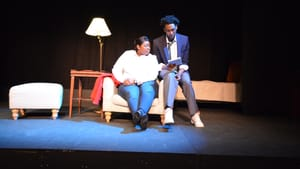 Nya (Sasha Allen) confronts a system that doesn't serve people who look like her and her son (Brian Neal.) (Photo courtesy of SCTC.)