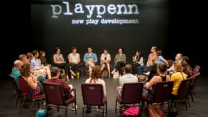 Time for everyone to look inward: a huddle from PlayPenn's 2016 conference. (Photo by John Flak.)