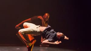 Dancers performed sidesteps, swipes, coffee grinders, and backbends. (Photo by Bicking Photography.)
