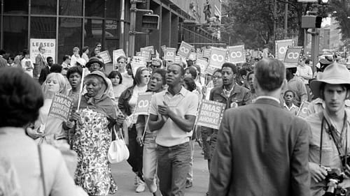 Demonstrators participating in the Poor People's March in Washington, DC, on June 18, 1968. (Retrieved via Wikimedia Commons.)