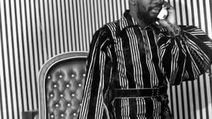 'Isaac Hayes in His Office at Stax Records, Memphis, Tennessee,' a 1970s gelatin silver print by Ernest C. Withers. (Courtesy of Decaneas Archive, Revere, MA. © Dr.Ernest C. Withers, Sr.)