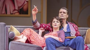 A rocky gravitational pull: Eleanor Handley and Matthew Floyd Miller in PSF's 'Private Lives.' (Photo by Lee A. Butz.)