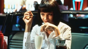 She'll have the Martin and Lewis: Uma Thurman in 'Pulp Fiction.' (Image courtesy of IMDb and the Philadelphia Film Society.)