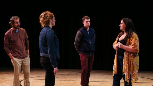 A new kind of chorus: Homer Robinson, Sophia Barrett, Josh McLucas, and Hallie Martenson. (Photo by Ceilidh Madigan.)