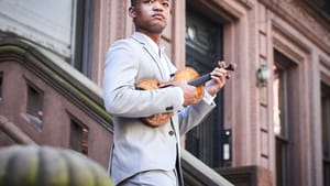Randall Goosby is the featured violinist in Tyshawn Sorey's 'Cycles of My Being.' (Photo by Kaupo Kikkas.)