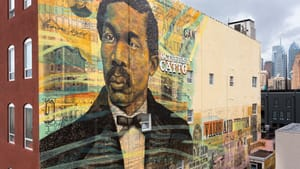 'Remembering a Forgotten Hero' mural by Keir Johnston and Willis Nomo Humphrey. (Photo by Steve Weinik).