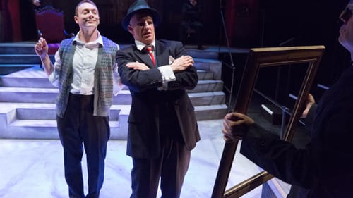 More Jerry Lewis than Jeremy Irons: Jered McLenigan and Anthony Lawton in 'Resistible Rise.' (Photo by Mark Garvin.)