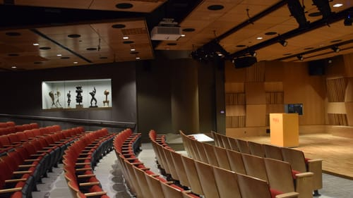 A pleasing crispness of sound: The new Rhoden Arts Center auditorium. (Image courtesy of PAFA.)