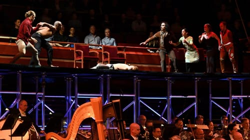 Shirts off, swords drawn: JUNK's 'Romeo and Juliet' with the Philadelphia Orchestra. (Photo by Pete Checchia.)