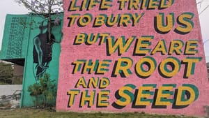 The Ralph Brooks Park Project by Steve Powers, a Mural Arts project, feels especially timely. (Photo by Kyle V. Hiller.)