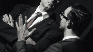 Russ Widdall as Robert Kennedy and Joshua Tewell as Richard Goodwin. (Photo by Alex Lowy of lowyphoto.com)