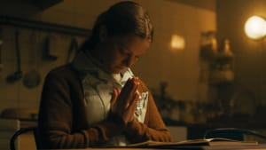 The loneliest girl in the world? Morfydd Clark in 'Saint Maud.' (Image courtesy of A24.)