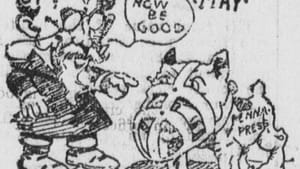 We Pennsylvanians have seen this before. 1903 'Tacoma Times' editorial cartoon by Bob Satterfield. (Image via Creative Commons/Wikimedia)