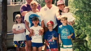 Before the storm: Alaina, at left, with her fellow campers in 1993. (Photo courtesy of the Johns family.)