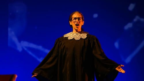 """""""It's not my first time to break through a ceiling."""" Jennifer Zetlan as Ruth Bader Ginsburg. (Photo courtesy of OperaDelaware.)"""
