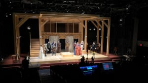 The show will go on: People's Light artists gather to film one more run of 'Shakespeare in Love.' (Photo by Alix Rosenfeld.)