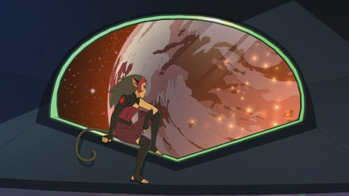As normal as you can get with transformations, a cat-person, and an absurd number of space aliens: Catra looks on in 'She-Ra.' (Image courtesy of Netflix.)
