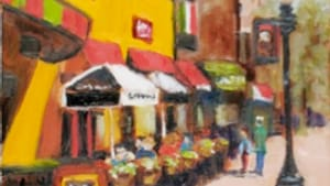 'Sidewalk Café,' by Trudy Reeder: Perchance to dream.