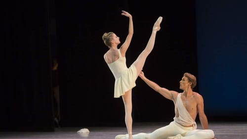 Exceptional grace: Sterling Hyltin and Adrian Danchig-Waring. (Photo courtesy of Stars of American Ballet.)