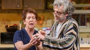Secrets emerge as a family attempts to survive: Kathleen Pirkl Tague and Stephen Pelinski in REP's 'Starter Pistol.' (Photo by Evan Krape.)