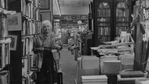 Frances Steloff and the interior of the Gotham Book Mart. (Photo courtesy Penn Libraries' Kislak Center.)