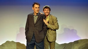 Aplomb and energy: Brian McManus and Steve Carpenter in 'Stones in His Pockets.' (Photo courtesy of South Camden Theatre Company.)