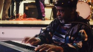 Sun Ra playing at the New England Conservatory in 1992. (Photo by Pandelis Karayorgis.)