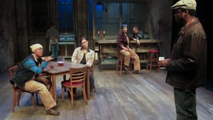 Facing deindustrialization: the cast of 'Sweat' at People's Light. (Photo by Paola Nogueras.)