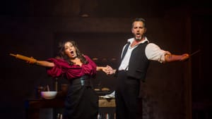 """Jenny Lee Stern's Mrs. Lovett and Douglas Ladnier's Sweeney Todd might be """"one of the oddest couplings in theater."""" (Photo courtesy of Media Theatre.)"""