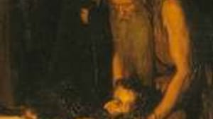 Detail from 'Resurrection of Lazarus' (1897): What went on at his dinner table?