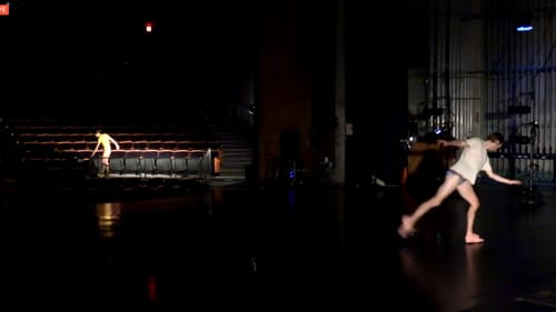 An empty theater means new opportunities for the artists, as Pam Tanowitz Dance discovered. (Photo courtesy of the Annenberg.)