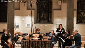 The Tempesta Chamber Players on February 2 at Philadelphia Episcopal Cathedral. (Photo by Andrés Villalta.)