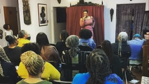 A beautiful beginning: Nicole Phoenix hosts the inaugural 'Comments Section' at the Sable Collective. (Image courtesy of Nicole Phoenix.)