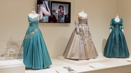 A visually luscious exhibition: 'Costuming THE CROWN.' (Image courtesy of Winterthur.)