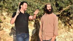 Ali Abu Awwad surveys the land with a fellow resident of Gush Etzion. (Photo courtesy of the Philadelphia Jewish Film Festival.)