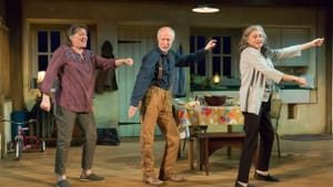 An extremely talented trio: Marcia Saunders, Graham Smith, and Janis Dardaris in 'The Children' at People's Light. (Image courtesy of People's Light.)
