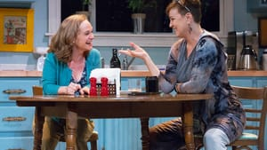 Hatching plans in the kitchen: Jennifer Childs and Grace Gonglewski in 'The Roommate.' (Photo by Mark Garvin.)