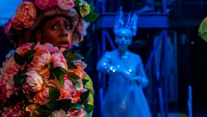 An unfamiliar telling of a familiar story: Kala Moses Baxter and Katherine Fried in the Arden's 'Snow Queen.' (Photo by Ashley Smith, Wide Eyed Studios.)