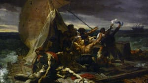 """Did Théodore Géricault exploit the 15 people who survived? In all, 147 were set adrift on rafts after an 1816 shipwreck. (""""The Raft of the Medusa,"""" 1819)"""