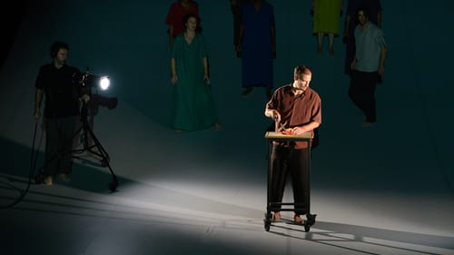 A palpable zeal for the work: Ross Beschler in 'There.' (Photo by Johanna Austin; austinart.org.)